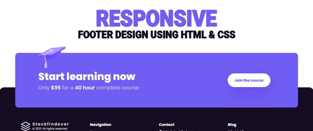 Cover image for 100% Responsive Website Footer | Awesome Footer Design Using Html & CSS
