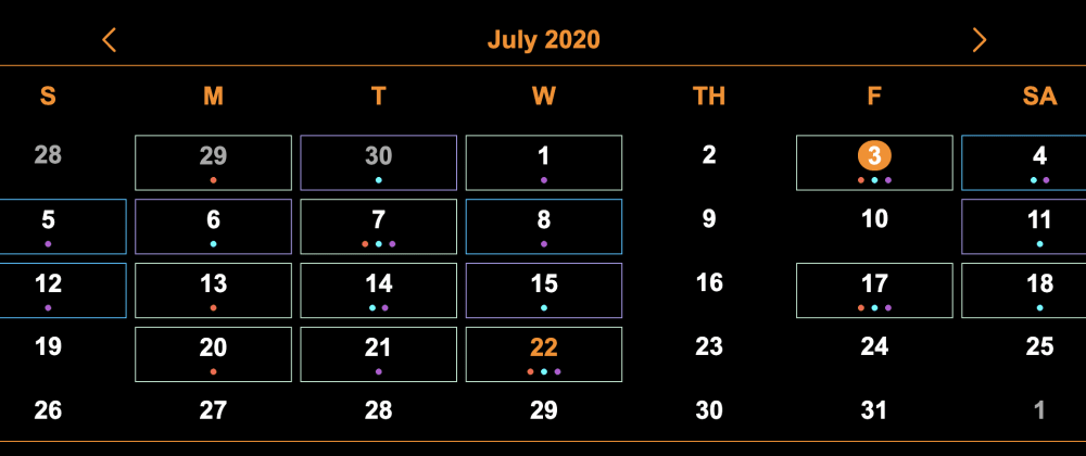 Cover image for Create a Responsive Calendar with Vanilla Javascript and CSS Grid
