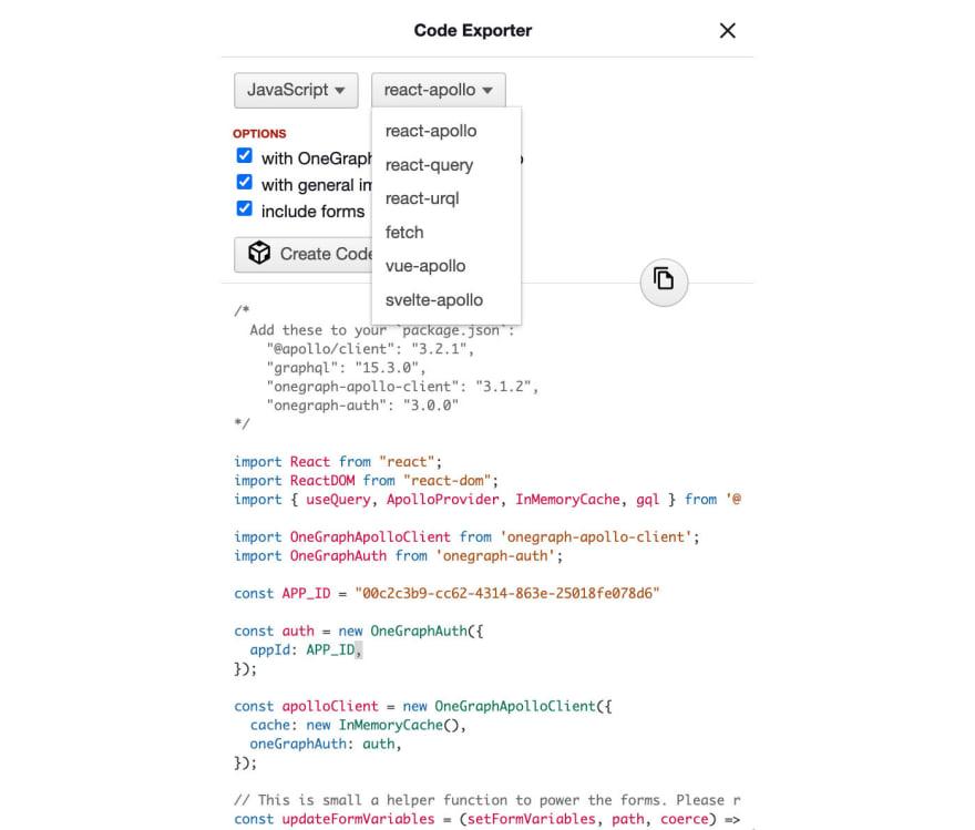 Code Exporter