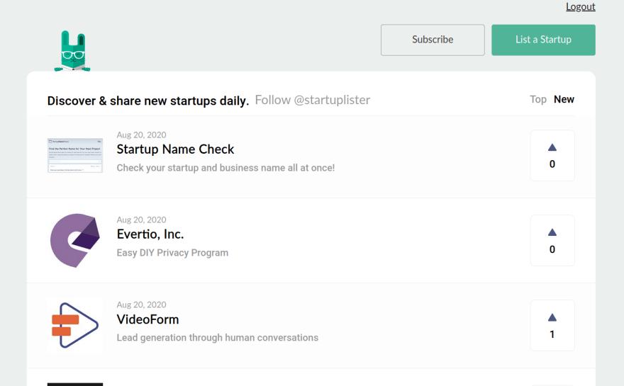 StartupLister Listing