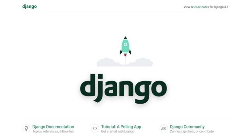 Django configured to use MySql - The default page.