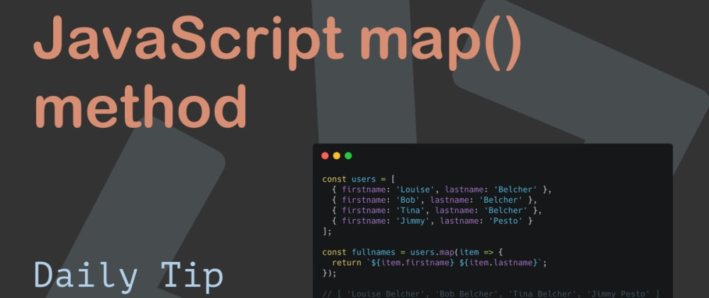 Cover image for JavaScript map() method