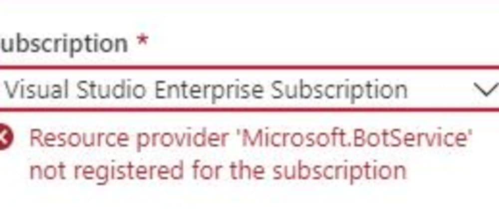 Cover image for FIXED: Azure - Resource provider not registered for the subscription