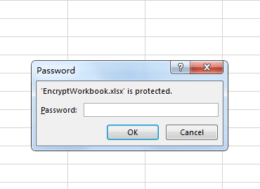 Encrypted Excel workbook