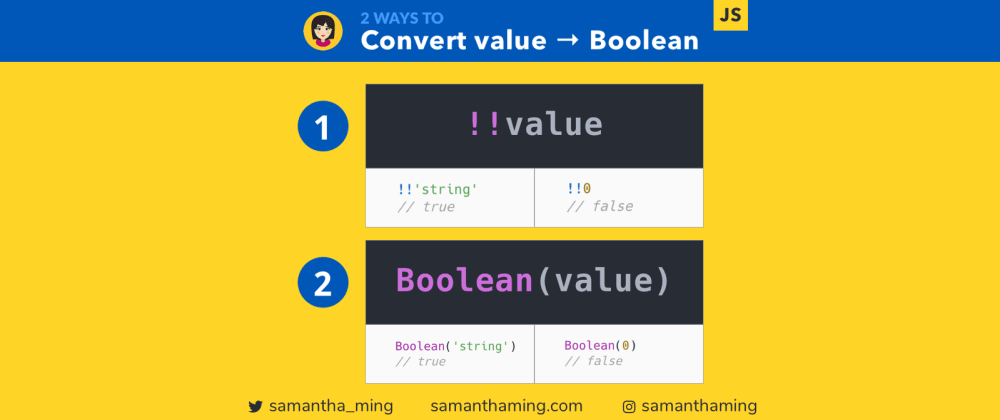 Cover image for 2 Ways to Convert Values to Boolean in JavaScript