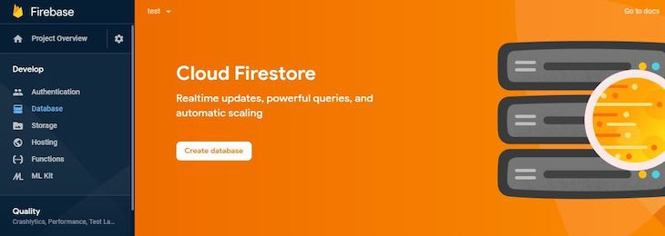 Cloud Firestore Page