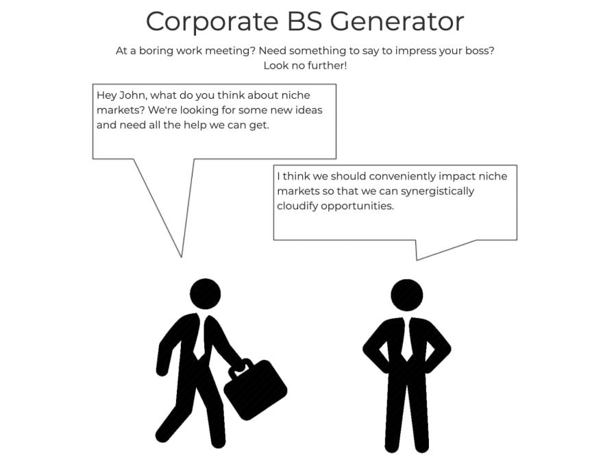 Corporate BS Generator app