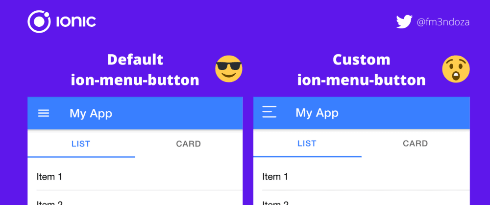 Cover image for How to customize the ion-menu-button in Ionic 5
