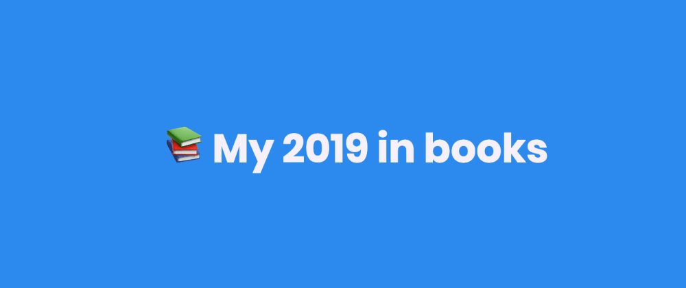 Cover image for My 2019 in books
