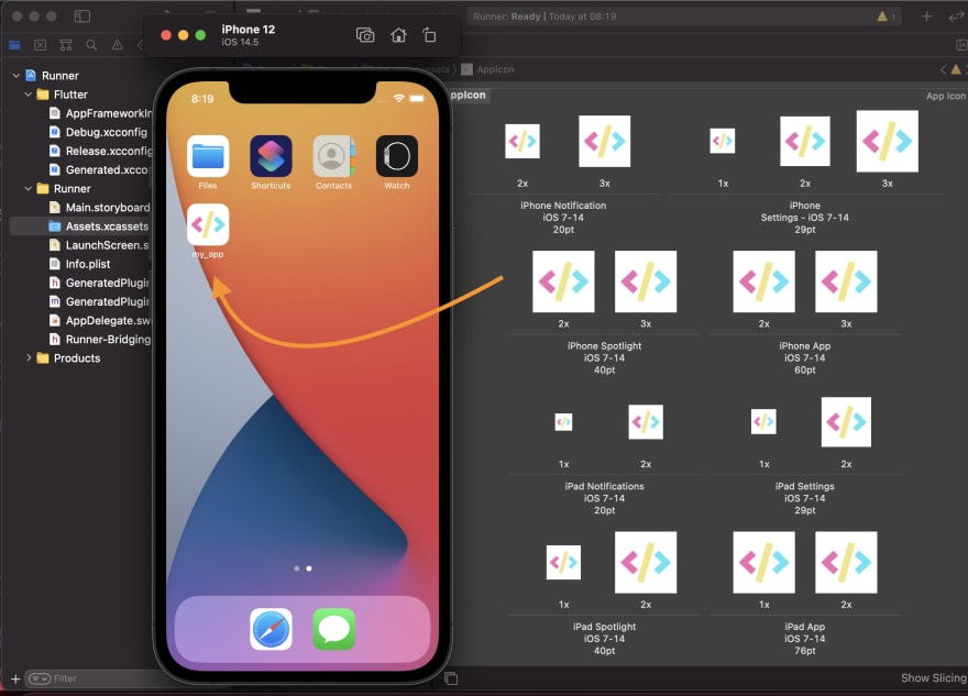 iOS app icons in Flutter