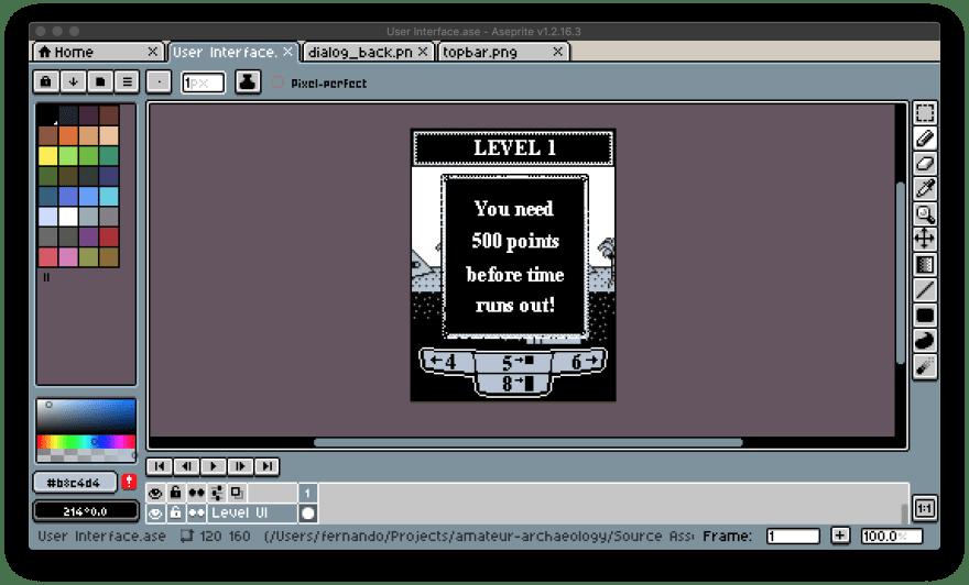 Screenshot of better UI
