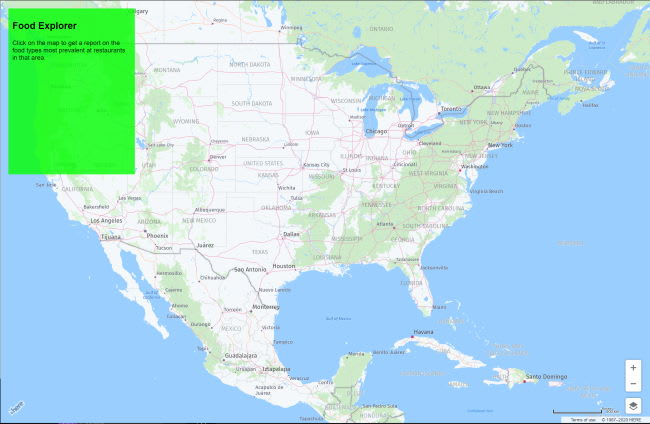 Map centered on America