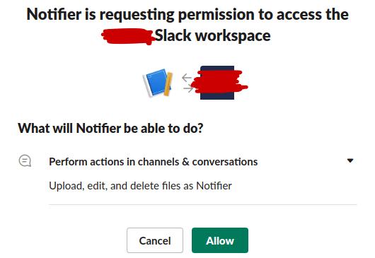 Slack App Install to Workspace