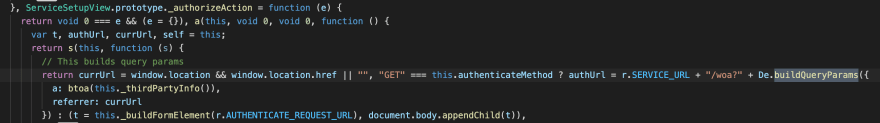 Commented minified code of function _authorizeAction from MusicKitJS