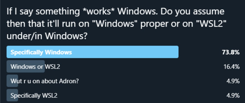 """Cover image for Poll """"When Stating Windows Support, What do YOU Expect?"""""""