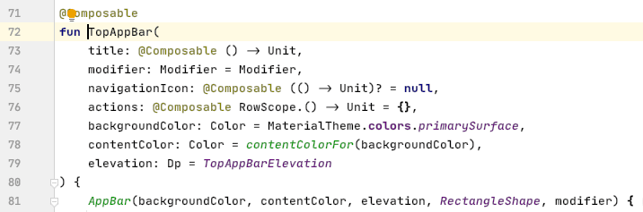 A look at the TopAppBar source code