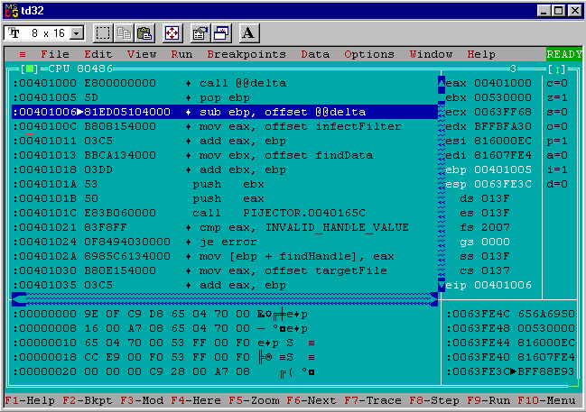 pijector CPU view window 3