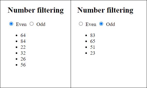 number filter
