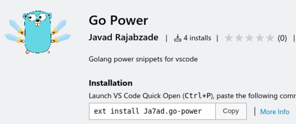 Cover image for Go Power for vscode