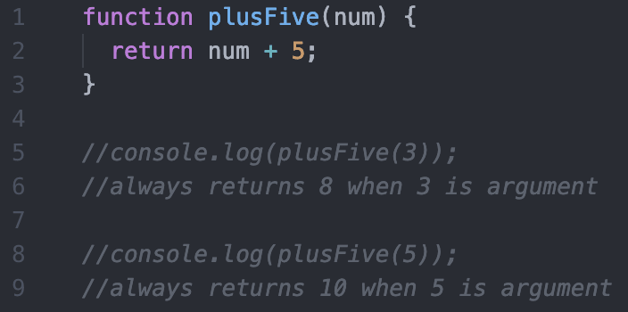 basic pure function example