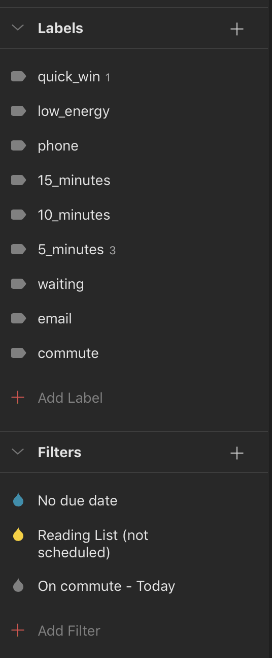 My Project List - Todoist