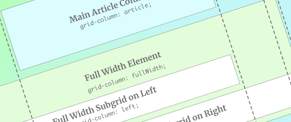 Cover image for Use CSS Subgrid to layout full-width content stripes in an article template