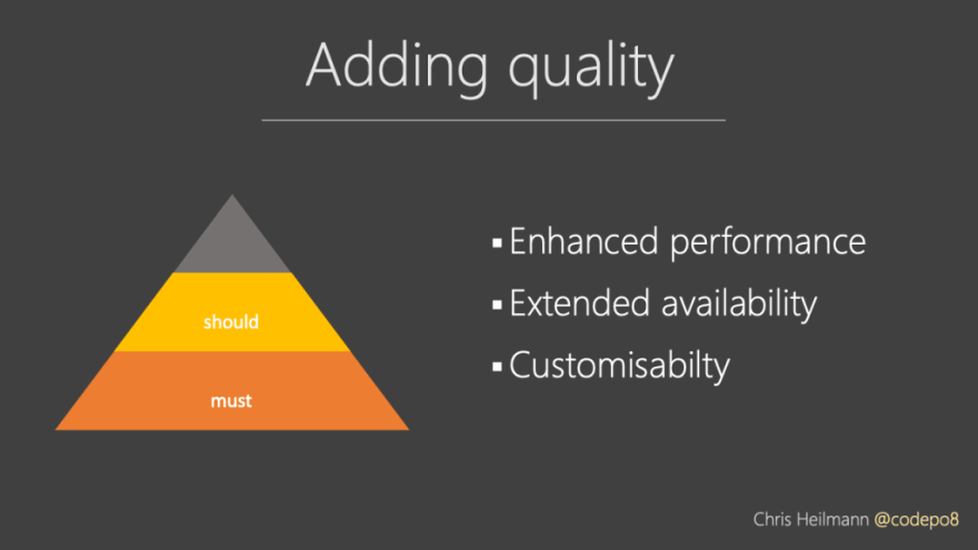 Adding quality, features we should add
