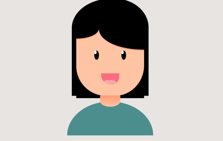 CSS illustration of a girl