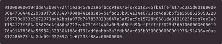 Deconstructing a bitcoin transaction