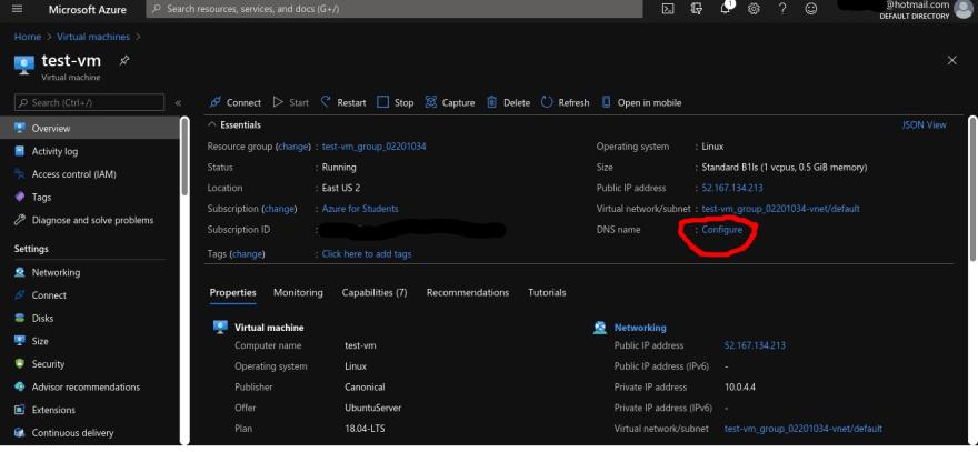 Azure VM Config