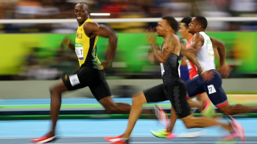 Le sourrire d'Usain Bolt