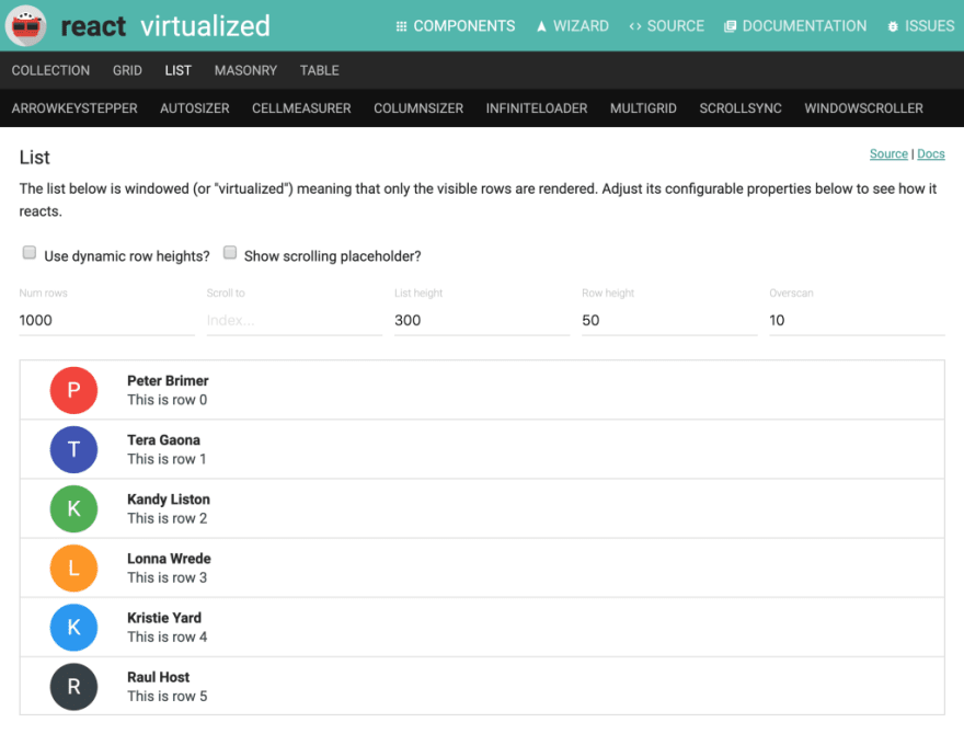 What I learned from building my own virtualized list library