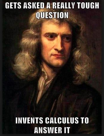 Newton invents calculus