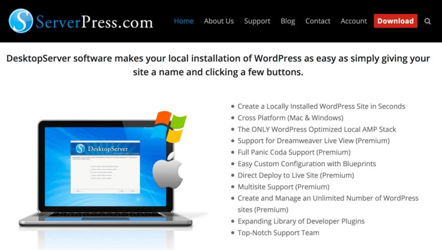 The DesktopServer website.
