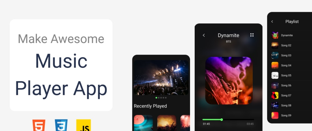 Cover Image for How to create Music player with pure HTML, CSS, JS