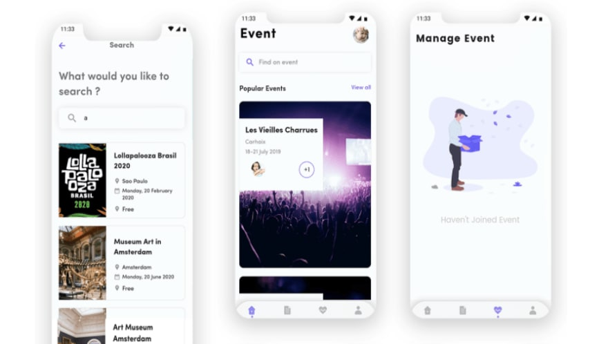 Event Country – Event management flutter template with firebase backend. best flutter app templates