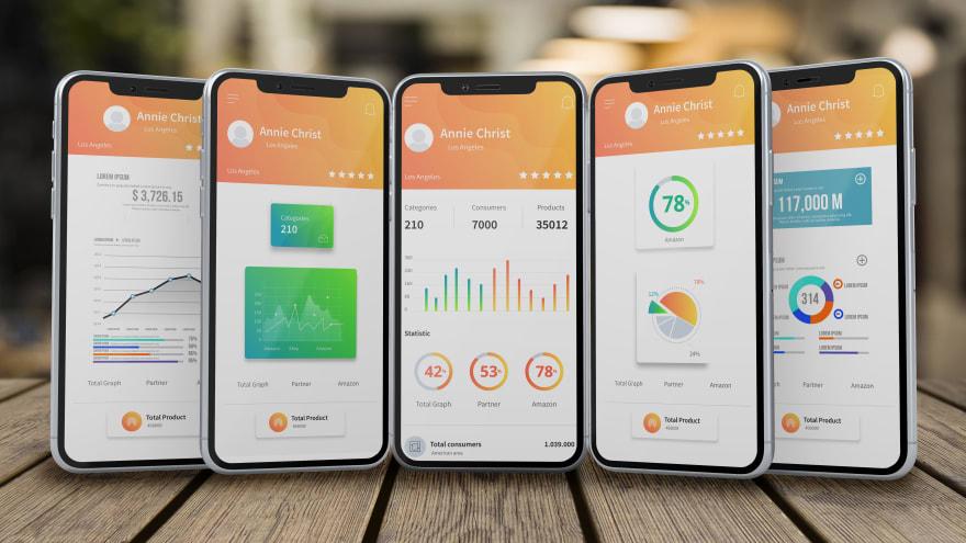 Various mobile development user interfaces