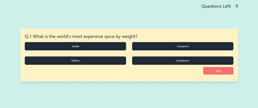 Cover image for Quiz app with React.js and typescript