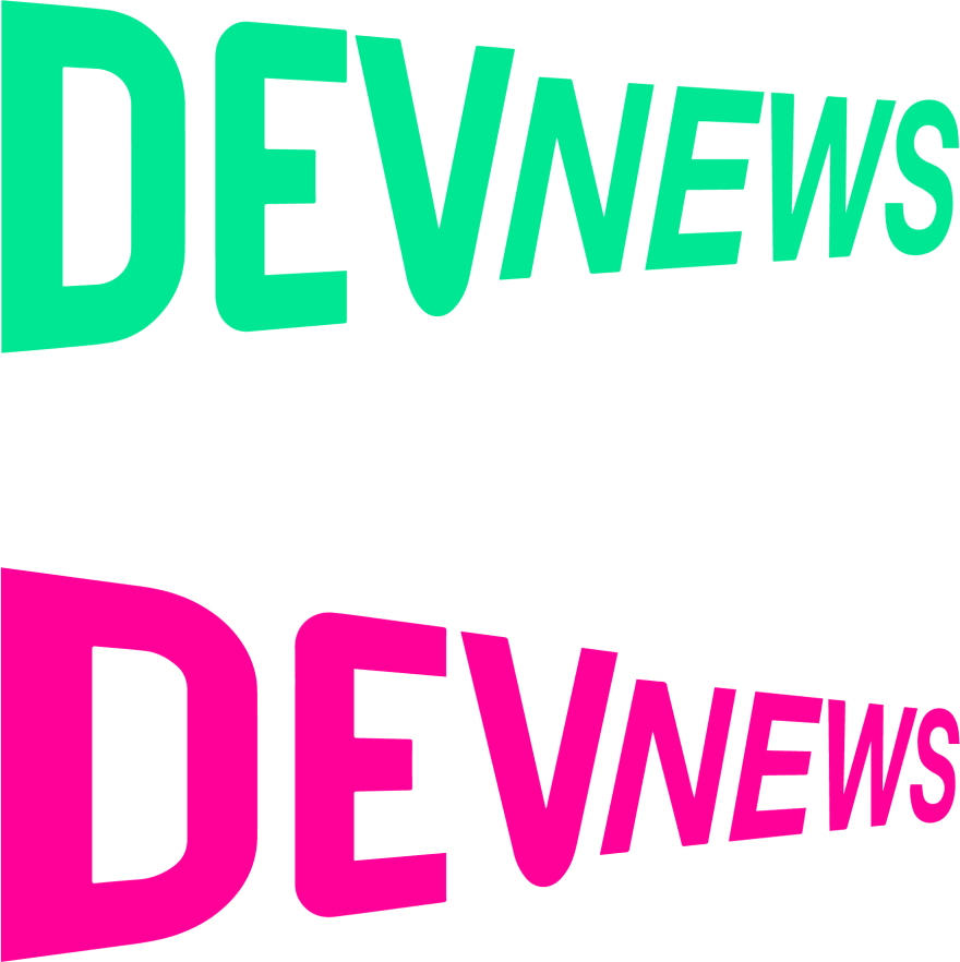 The logo for DEV News podcast.