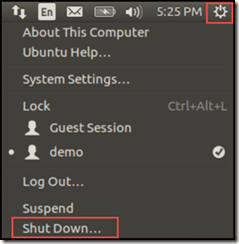Ubuntu shut down