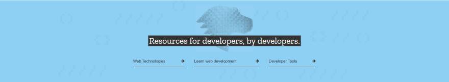MDN Web Docs Hero banner