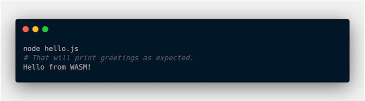 Testing The hello.js File In Node