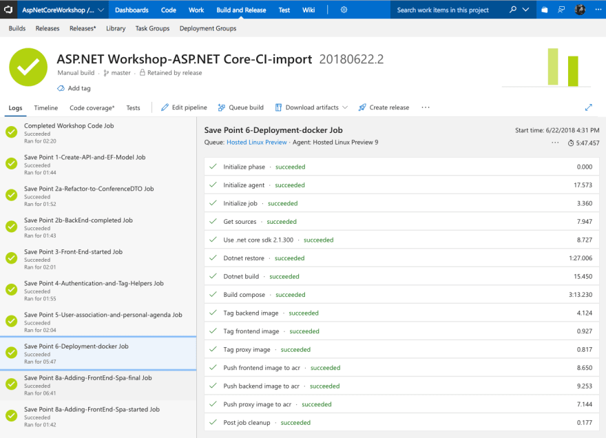 Learning DevOps and building the ASP.NET Core Workshop and keeping it up to date