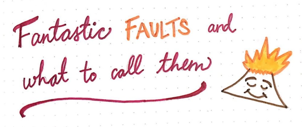 Cover image for Fantastic Faults and What to Call Them