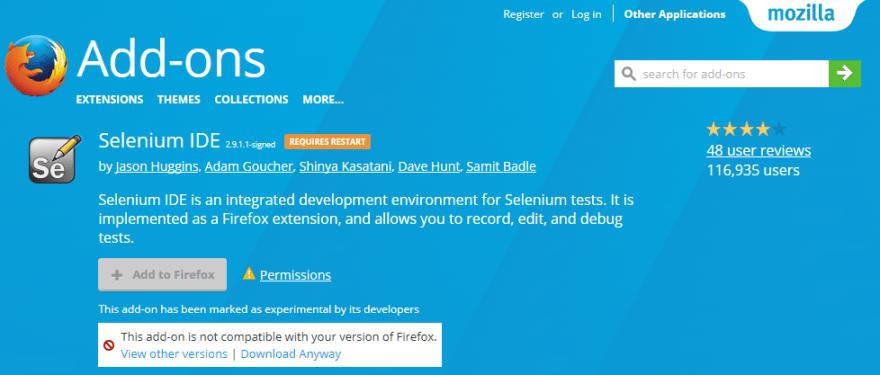 Selenium IDE alternative