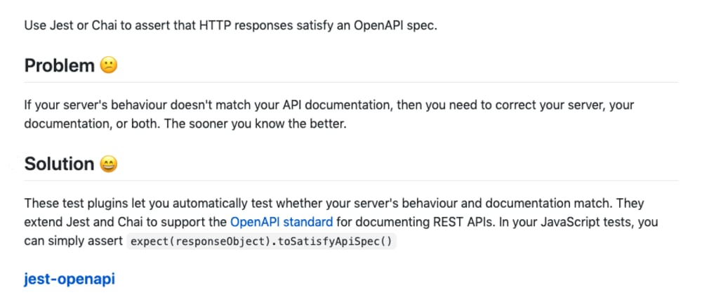 Cover image for Ensuring your OpenAPI (Swagger) Specification is never outdated through testing with Chai or Jest