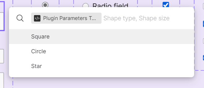 The Figma UI prompting for the Shape Type parameter