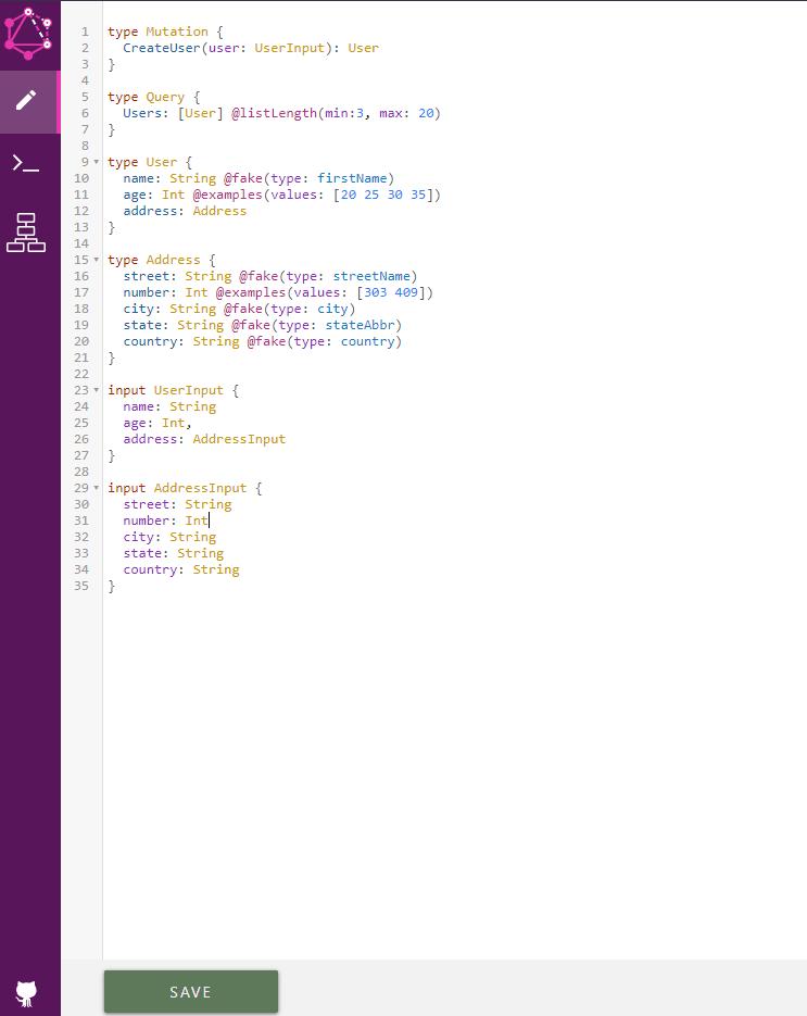 GraphQL Schema Interactive Editor
