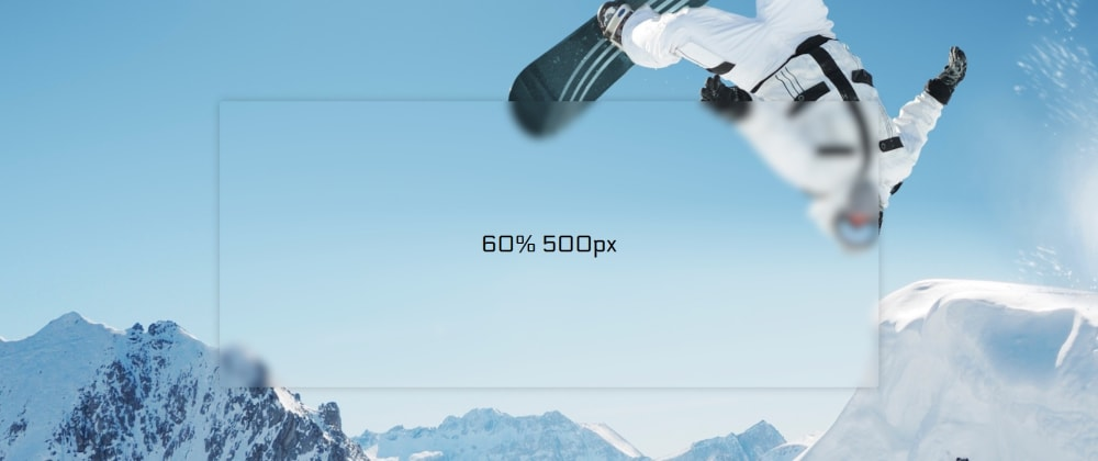 Cover image for Frosted Glass/Panel Effect, Cross Browser Solution, Vanilla JS + CSS!