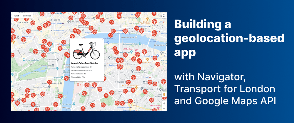 Cover Image for Building a geolocation app using Google Maps API in Vanilla JavaScript